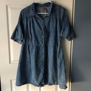 Chambray button down tunic size L
